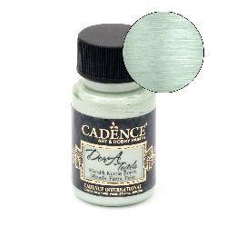 Μεταλλικό χρώμα βαφής υφάσματος CADENCE DORA Textile 50 ml. - ΜΙΝΤ 1153