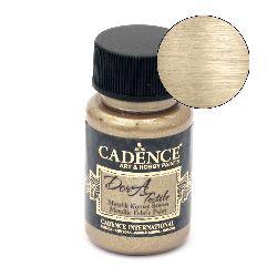 Textile paint metallicCADENCE DORA 50 ml. - ANTIQUE GOLD 1150