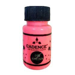 Vopsea acrilică strălucitoare în întuneric CADENCE 50 ml - PINK 579