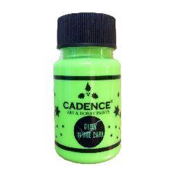 Vopsea acrilică strălucitoare în întuneric CADENCE 50 ml - VERDE INCHIS 581