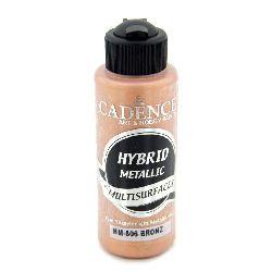 Акрилна боя металик CADENCE HYBRID 120 мл - BRONZE 806