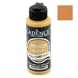 Acrylic Paint, AMBER H-013 Color, Cadence Hybrid, 120 ml
