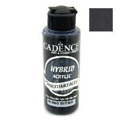 Acrylic Paint, Black Color, Cadence Hybrid, 120 ml