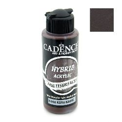 Acrylic Paint, Dark Brown Color, Cadence Hybrid, 120 ml