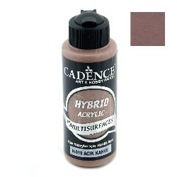 Acrylic Paint, Light Brown Color, Cadence Hybrid, 120 ml