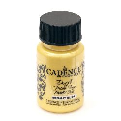 Акрилна боя металик CADENCE DORA 50 мл. - CANARY YELLOW 199