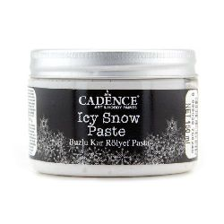 Embossed paste with snow effect CADENCE ICY SNOW PASTA - 150 ml.