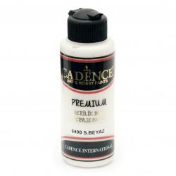 Vopsea acrilica CADENCE PREMIUM 120 ml - ALB CALD