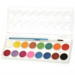 Комплект акварелни бои 16 цвята с четка за рисуване