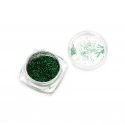 Оцветител за смола фин брокат 2.5 гр в кутия - зелен