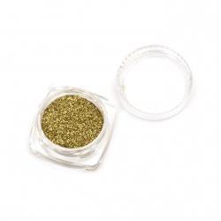 Оцветител за смола фин брокат 2.5 гр в кутия - злато