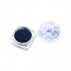 Resin colorant fine brocade 2.5 g in a box - blue