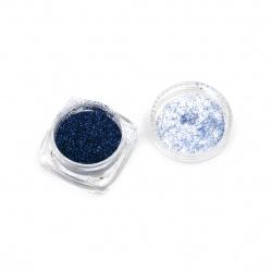 Оцветител за смола фин брокат 2.5 гр в кутия - син