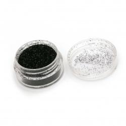 Оцветител за смола фин брокат 2.5 гр в кутия - черен