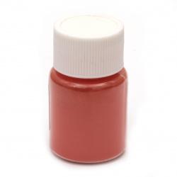 Colorant pentru pulbere de perină de rășină 25 ml într-un borcan - roșu