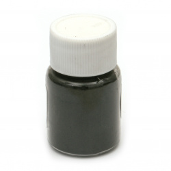 RESIN Pearl Pigment Dye Powder in a jar 25 ml.- black