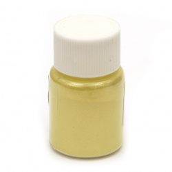 RESIN Pearl Pigment Dye Powder in a jar 25 ml. - yellow