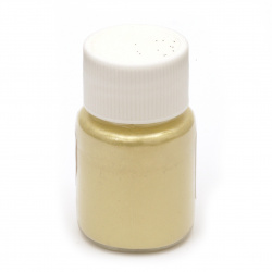 RESIN Pearl Pigment Dye Powder in a jar 25 ml - white gold