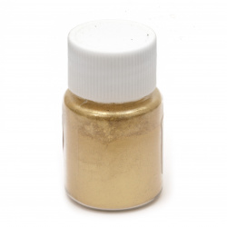 RESIN Pearl Pigment Dye Powder in a jar 25 ml.- gold