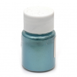 RESIN Pearl Pigment Dye Powder in a jar 25 ml. - blue