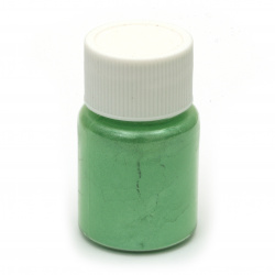RESIN Pearl Pigment Dye Powder in a jar 25 ml. - pale green
