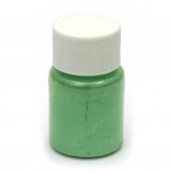 Оцветител за смола перлен пудра 25 мл в бурканче- зелен бледо