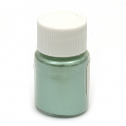 RESIN Pearl Pigment Dye Powder in a jar 25 ml.- green