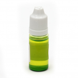 Оцветител за смола плътен 10 мл - зелен светло