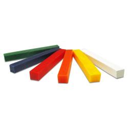 Комплект восъчни пръчки за моделиране 1x1x9 см Meyco 6 цвята