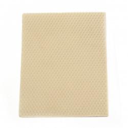 Восъчен лист 20x15x0.3 см бял