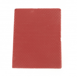 Восъчен лист 20x15x0.3 см червен