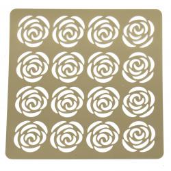 Шаблон за релеф и Mix media 20x20 мм рози