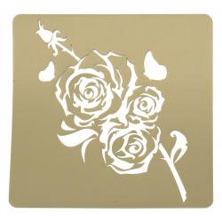 Шаблон за релеф и Mix media 20x20 мм роза