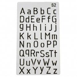Шаблон за многократна употреба универсален 180x100 мм азбука S2