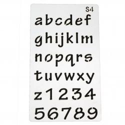 Шаблон за многократна употреба универсален 180x100 мм азбука S4