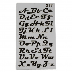 Шаблон за многократна употреба универсален 180x100 мм азбука S17