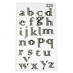 Шаблон за многократна употреба универсален 180x100 мм азбука S20