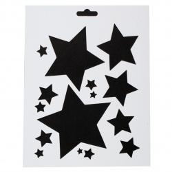 Шаблон за многократна употреба универсален 205x255 мм -звезди