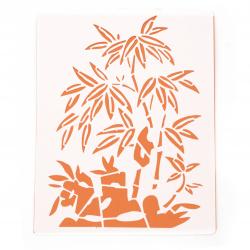 Шаблон за изрязване и рисуване 15x21 мм палми