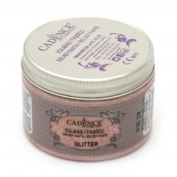 Relief glitter paste for textiles CADENCE GLITTER 150 ml -copper 15879