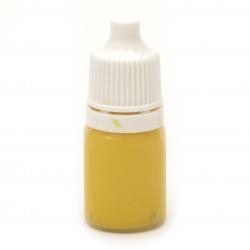 Цветна паста /оцветител/пигмент/ за смола цвят жълт -10 мл