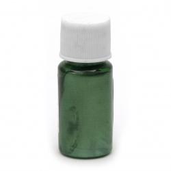 Перлен оцветител (пигмент) за смола на маслена основа цвят зелен -10 мл