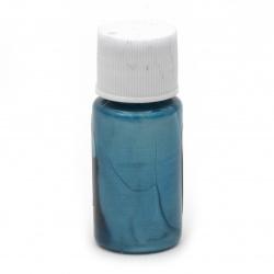 Перлен оцветител (пигмент) за смола на маслена основа цвят небесносин -10 мл