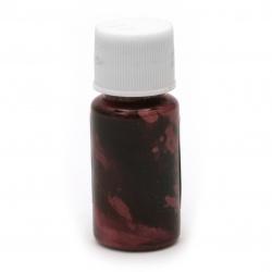 Перлен оцветител (пигмент) за смола на маслена основа цвят фуксия -10 мл