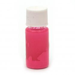 Флуоресцентен оцветител (пигмент) за смола за заскрежен ефект на алкохолна основа цвят розов -10 мл