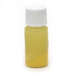 Оцветител (пигмент) за смола за заскрежен ефект на алкохолна основа цвят лимоненожълт -10 мл