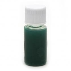 Оцветител (пигмент) за смола за заскрежен ефект на алкохолна основа цвят зелен -10 мл