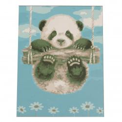 Set pictură după cifre 20x30 cm - Panda msa0070