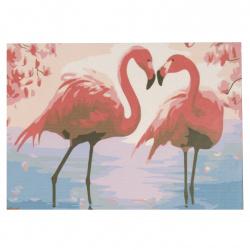 Set pictură după cifre 20x30 cm - Flamingo msa0071
