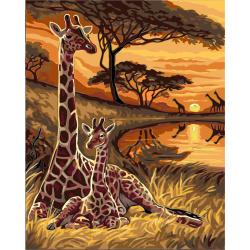 Σετ ζωγραφικής με αριθμούς 30x40 cm - Καμηλοπαρδάλεις Ms9247